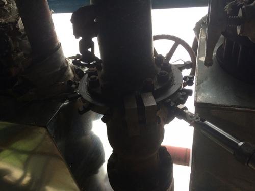 辽化炼油厂氢气法兰泄漏,DN100PN2.6MPa,温度320℃,采用高温堵漏胶实施工堵漏成功。